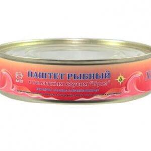 Паштет рыбный с томатным соусом «Бриз» (ж/б 160 гр)
