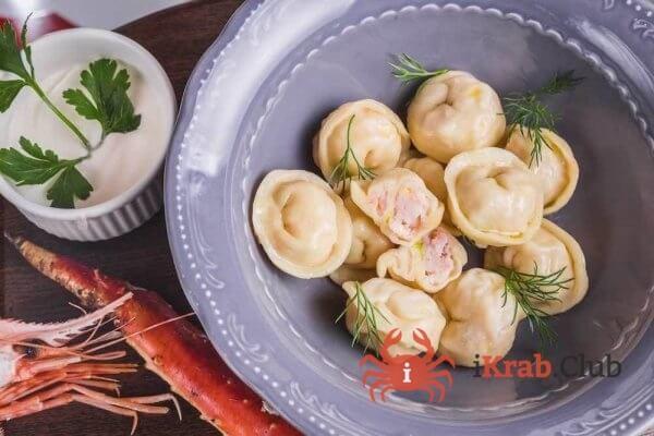 Пельмени тресково-креветочные мороженные, пакет 400гр
