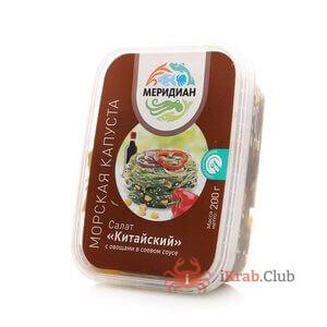 Морская капуста с соевым соусом и кунжутом, салат