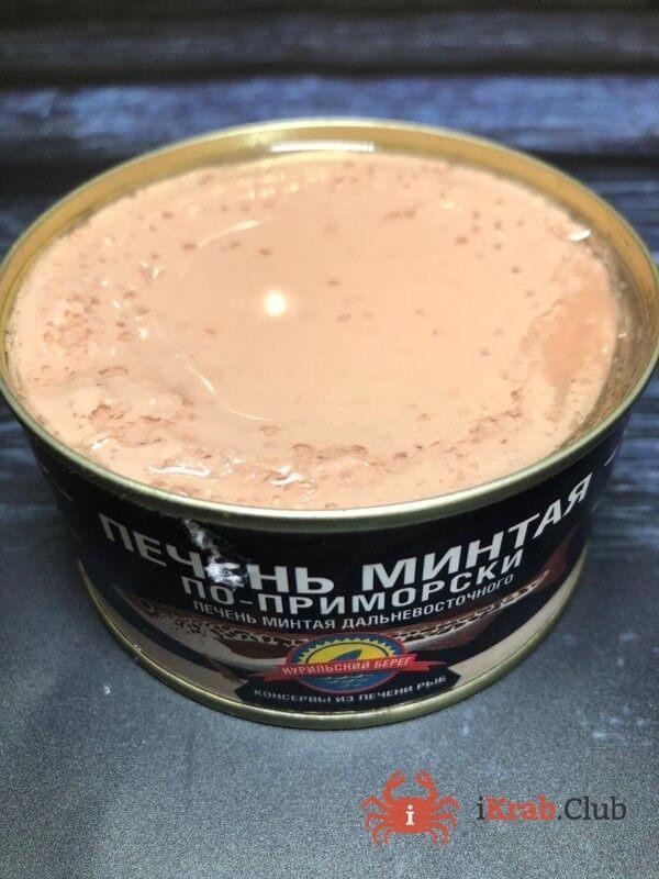 Печень минтая по приморски, 230 гр
